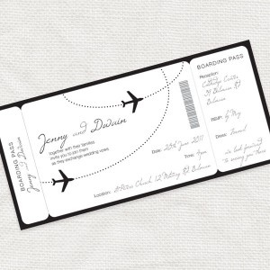 Ticket Stationary ... save the dates, invitations, rsvp, escort cards, etc.