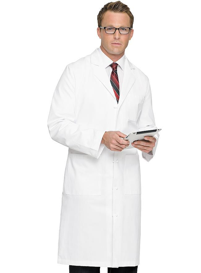 Style Code: (LA-3138T) Tall men will surely fin the perfect fit with this lab coat from Landau Uniforms. This is the tall version of 3138 medical lab coat that features a classic notched lapel collar, long set-in sleeves, and five cloth-knot buttons for closure. You can easily access your trouser pockets with its side access openings. There are two large lower patch pockets and a chest pocket at the left for easy storage of your tools and personal items.