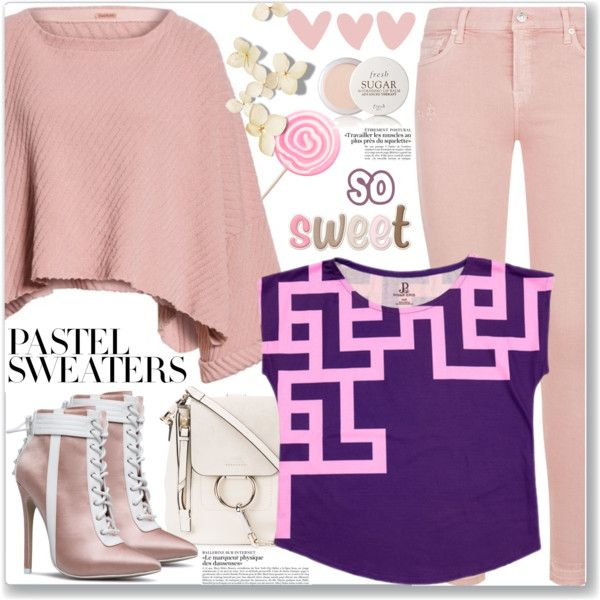 So Sweet: Pastel Sweaters (Casual Chic)  featuring Free People, 7 For All Mankind, Chloé, Fresh and pastelsweaters