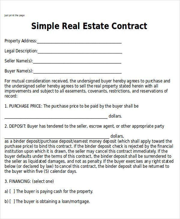 Simple Home Purchase Agreement Check More At Https Nationalgriefawarenessday Com 25341 Simple Home Real Estate Contract Contract Template Purchase Agreement