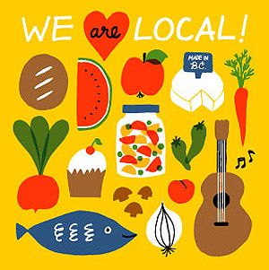 Absolutely love the illustrations used by Vancouver Farmers Markets. by Jane Koo