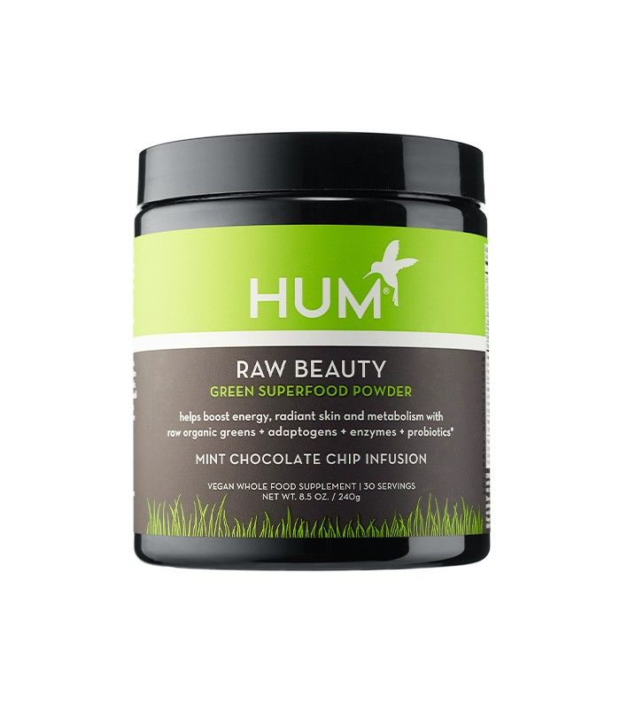 "Hum Nutrition Raw Beauty Green Superfood Powder ($39) Byrdie associate editor Victoria Hoff swears by this flavored powder, which she uses every afternoon for a kick of energy. ""It has protein and all these nutrients in it, and when I mix it with cold almond milk, it tastes like minty chocolate milk,"" she says. ""I don't think I've had an afternoon slump since I started taking it!"""