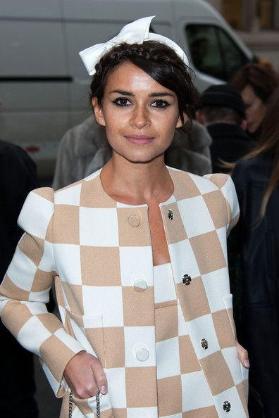 Miroslava Duma Street Always waring brave and stylish - biggest stir of ss2013 - Louis Vuitton loud 60s inspire - and she's flaunting it