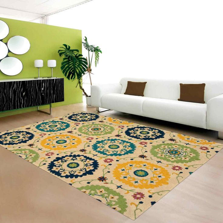 Suzani Rugs By Nourison Features Bright Colours, Floral Themed Designs On A  Stunning Ivory Background