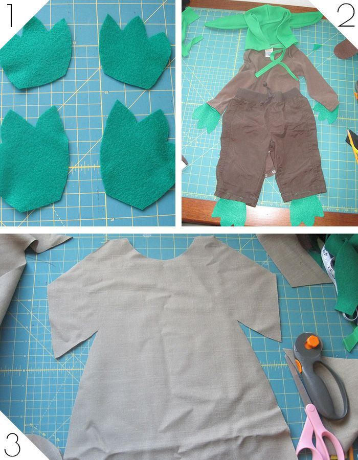 DIY Baby Yoda Costume Tutorial - Andrea's Notebook