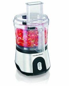 Hamilton Beach 70760 Review  Bottom Line  The Hamilton Beach 10-Cup Food Processor with Compact Storage can't match the performance of pricier, top-rated machines. However, for most cooking tasks, it delivers decent performance and ease of use at a hard-to-beat price.  Pros  Roomy, yet compact  Cord storage area  Large capacity  Dishwasher safe parts  Cons  Not best for heavy-duty jobs  Some durability issues