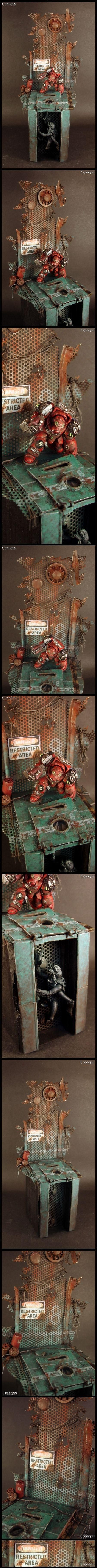 Awesome detail, but my favorite part is the lighting on the waiting Tyranid.