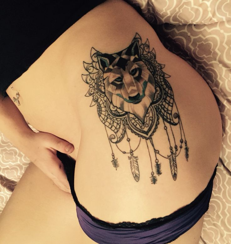 Mandala Wolf Tattoo Designs For Women I Like The: Placement/style/wolf/mandala/not A Dream Catcher