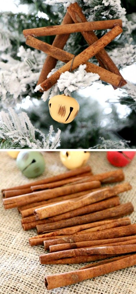 Cinnamon Stick Star Ornament   Click for 25 DIY Christmas Crafts for Kids to Make   DIY Christmas Decorations for Kids to Make