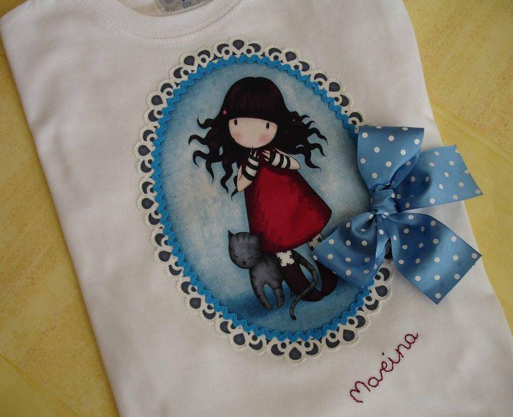 Camiseta de muñequita Gorjuss