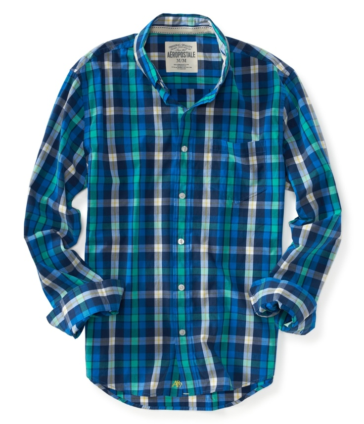 Men in plaid = :)  Find this shirt and many more at Aeropostale!