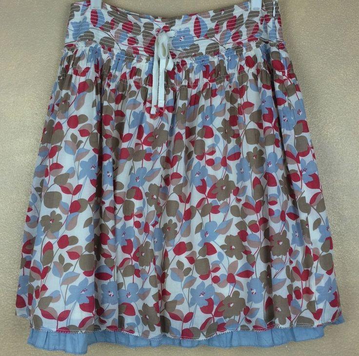 "Americn Eagle Skirt A-Line 3"" Wide Waist Faux Drawstring Lining w Blue Ruffle 4 #AmericanEagleOutfitters #ALine"