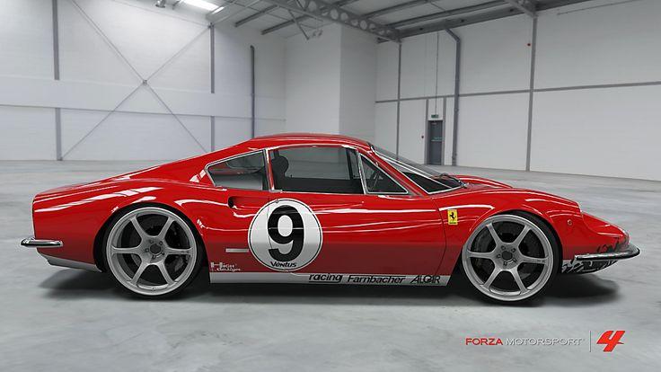Découvrez la Ferrari Dino 246 GT de ELIE GUITARMAN en photo dans Forza Motorsport 4 et donnez votre avis grâce aux commentaires. Si, vous aussi, vous souhaitez partager vos clichés réalisés dans Forza Motorsport 4, cliquez ici pour les ajouter dans la vit...