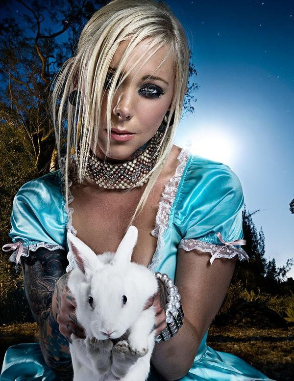 This is Maria Brink from In This Moment. She is my favorite metal chick.