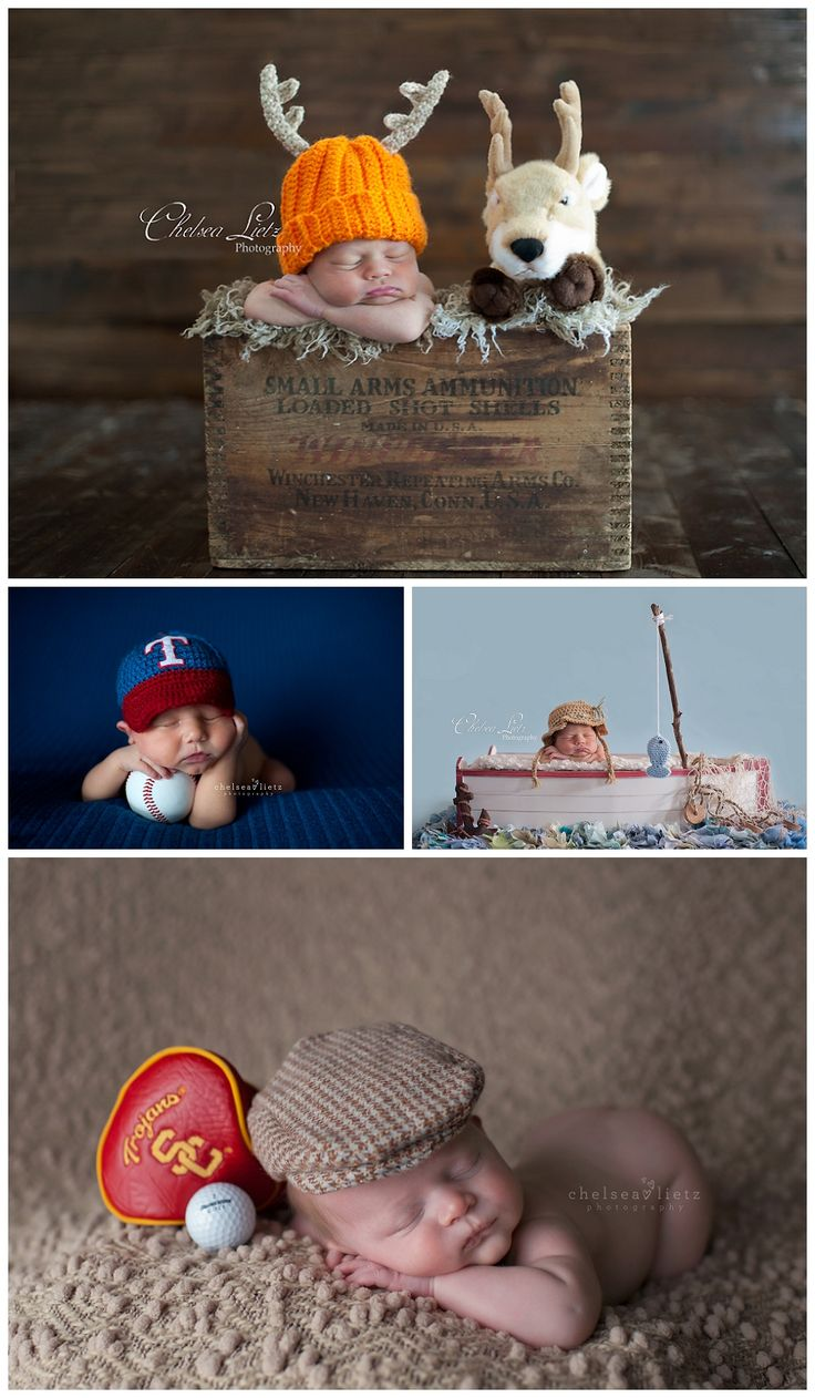 Baby Boy Newborn Portraits * Sports, Hunting, Fireman & Cowboy Babies * Themed Newborn Shoots - San Antonio Newborn Photographer | Chelsea Lietz Photography | Babies | Children | Maternity