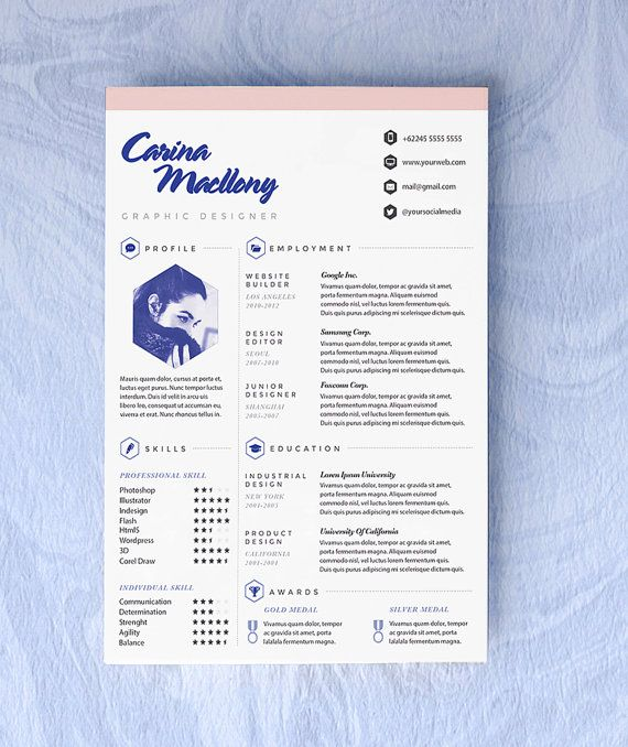 Customized Resume CV Design For The Creative by OddBitsStudio, €39.50