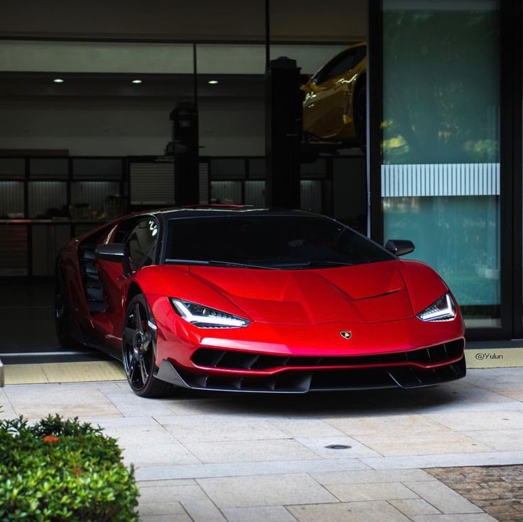 Lamborghini Centenario Coupe Painted In Rosso Efesto W Exposed