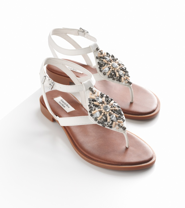 Never Too Early For Bright White #sandals. Simply Vera
