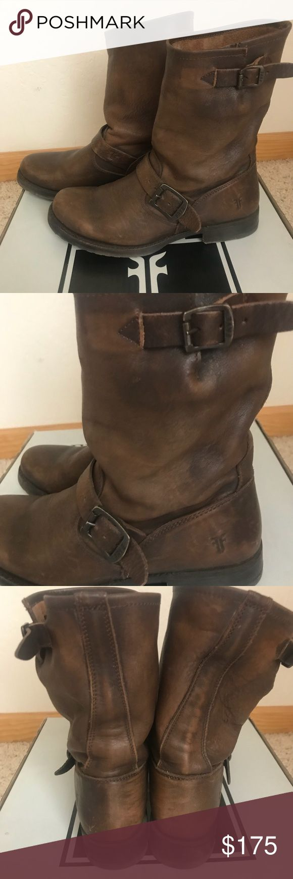 Frye Veronica Slouch Boots PRICEDROP Maple brown. Size 7.5. Like new. Only worn twice. Frye Shoes