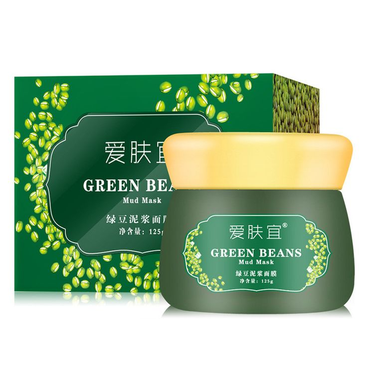 AFY Mung Bean Mud Mask Unisex Skin Care Cosmetic Products Facial Acne Detox