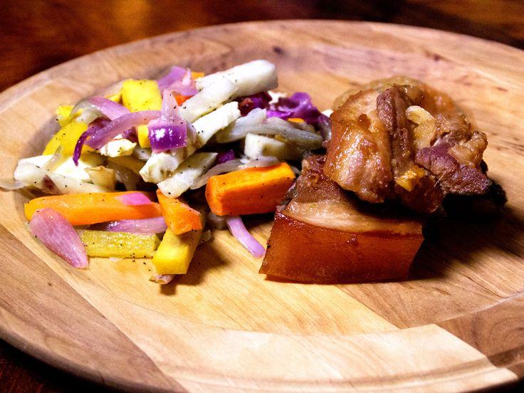 Riddarens glaserade revbensspjäll med ugnsrostade rotfrukter | Recept från Köket.se