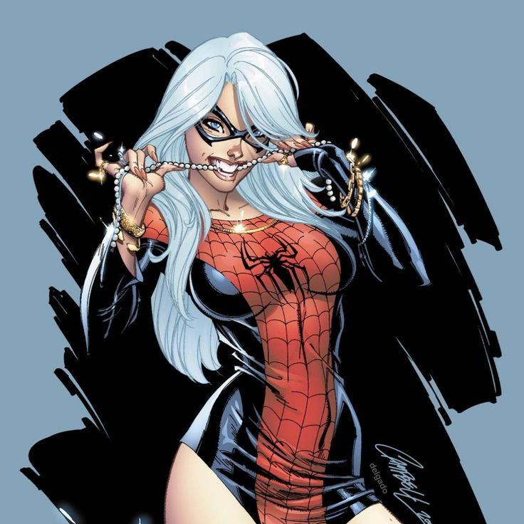 spiderman black cat - j scott campbell