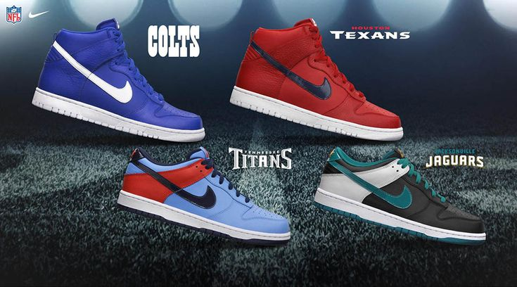 Nike NFL Draft Pack - AFC South - Nike Dunk High and Low
