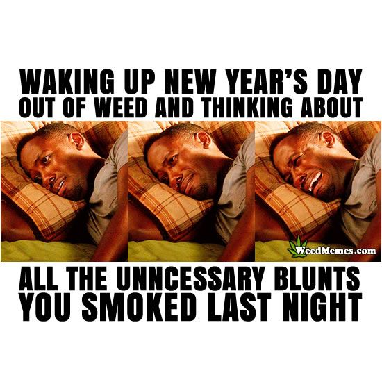 Day After New Year's Eve Memes | Hangover For Stoners Humor | Funny New Year Weed Memes | New Year's Day 420 Pics #weedmemes #cannabis #stoners #kush #marijuana