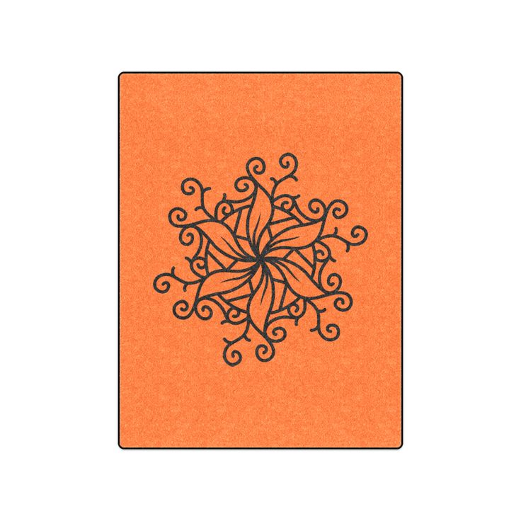 "Designers blanket for bedroom. Collection with mandala Art. Original hand-drawn Art. Blanket 50""x60""."
