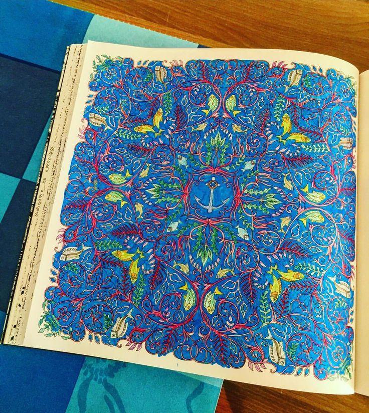 Bu da devamı  #art #artline #artwork #book #brightcolors #color #coloring #coloringbook #draw #drawing #fish #hobby #johannabasford #kitap #kuruboya #balık #leaf #pen #painting #renk #relax #renkler #lostocean #therapy #terapi #yaprak #yosun #blue #mavi