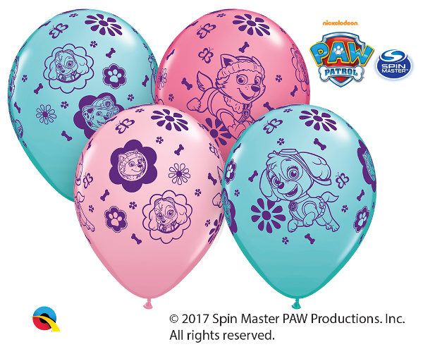"Paw Patrol GIRL Skye Everest BALLOONS [7ct] 11"" Latex Birthday Party Decorations Supplies by KidzPartyShoppe on Etsy https://www.etsy.com/listing/573747953/paw-patrol-girl-skye-everest-balloons"