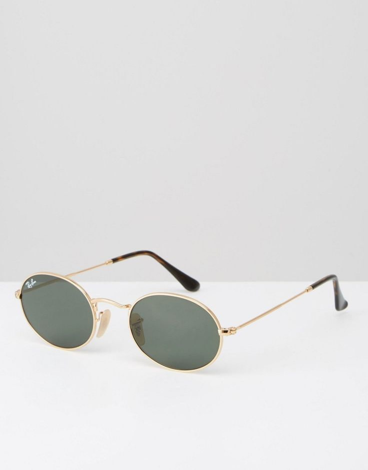 Image 1 of Ray-Ban Oval Flat Lens Sunglasses