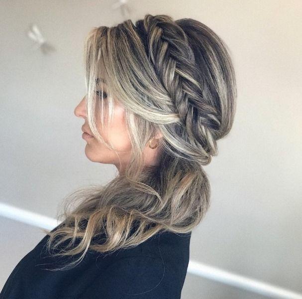 penteado de festa semi preso