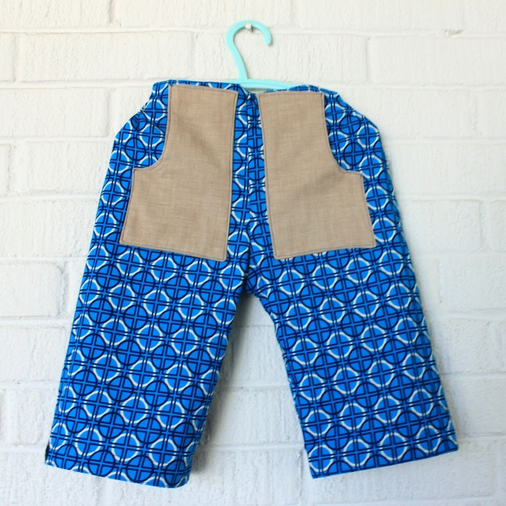 Reversible #Tan and #Blue Shorts with Pockets. $30.00, via Etsy. From Little Ra's, #DEAF2012 exhibitor
