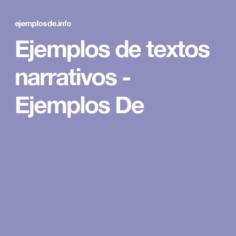 Ejemplos de textos narrativos - Ejemplos De