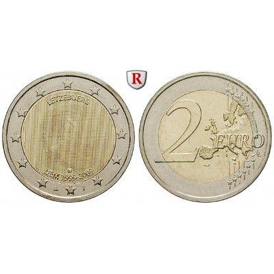 Luxemburg, Henri, 2 Euro 2009, bfr.: Henri seit 2000. 2 Euro 2009. 10 Jahre Währungsunion. bankfrisch 5,00€ #coins