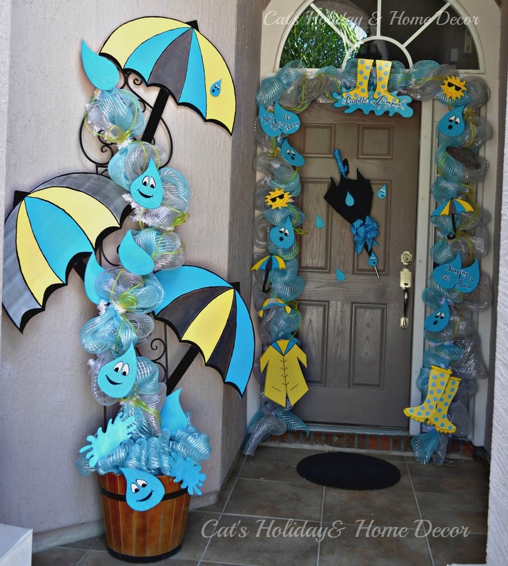 Cat's Holiday & Home Decor: April Showers Door Decor