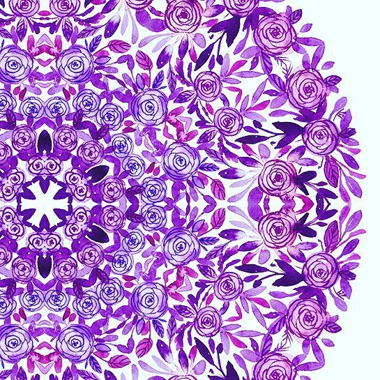 #watercolor #mandala #handdrawn #painting #indian #ornament #flowers #peony #rose #акварель #рисую #мандала #орнамент #розы #пеоны #листья #узор