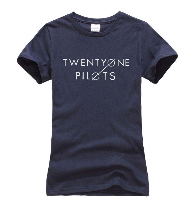 >> Click to Buy << harajuku top Women White black Cotton 2017 summer Twenty One Pilots Letters Print t shirts Short Sleeve O-neck Slim t-shirt S-XL #Affiliate