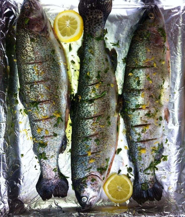 First Fishing then Cooking - Self(-fished)made Rosemary  & Lemon Trout