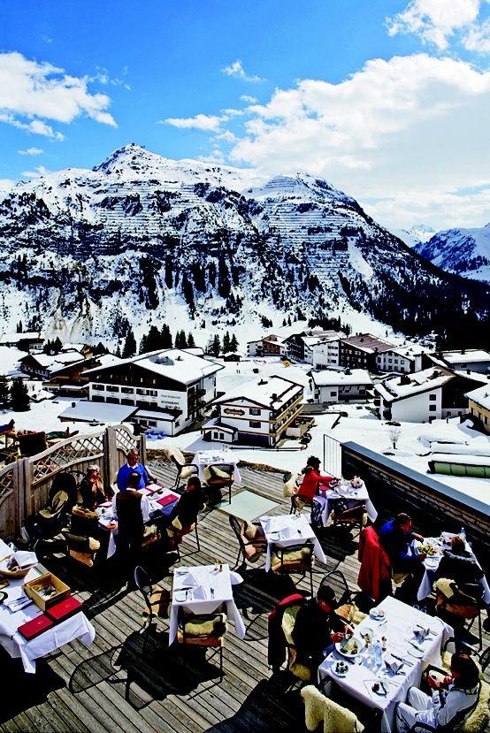 Winter in Lech, Austria.