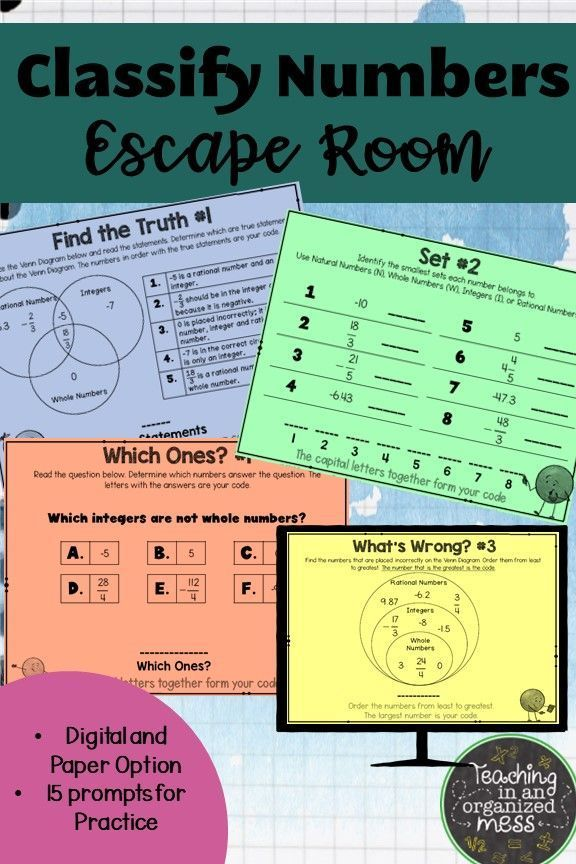 Classifying Rational Numbers Escape Room Distance Learning Rational Numbers Rational Numbers Activities Number System Activities Rational numbers worksheet grade 6