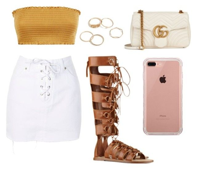 """Sin título #6"" by saez-javita on Polyvore featuring moda, Topshop, Nine West, Gucci y Belkin"
