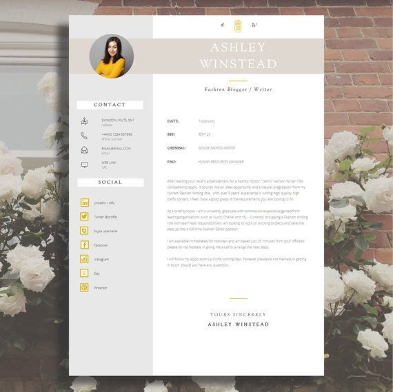 85 best CV images on Pinterest | Cv template, Resume templates and ...