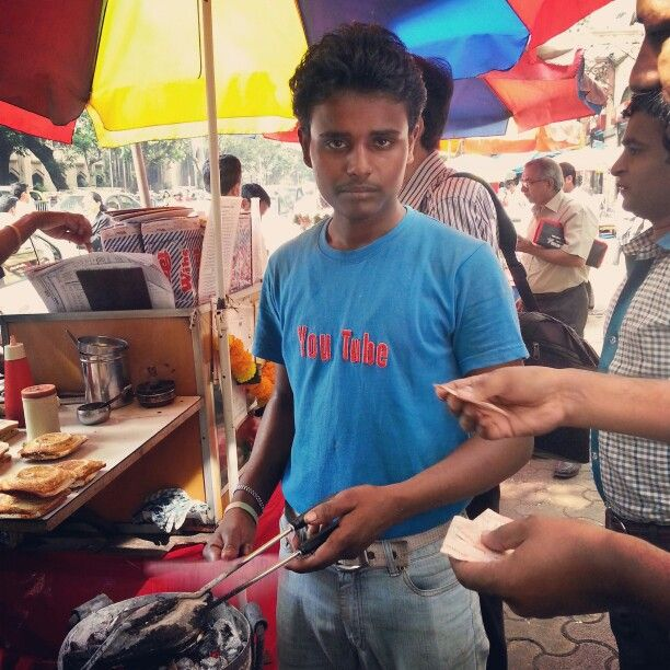 You Tube branded sandwiches at Kala Ghoda. Yummy #streetfood in #Mumbai.