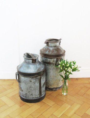 Vintage Milk Churns | Unique | Home Accessories | thedenandnow.co.uk | Warehouse Home Design Magazine