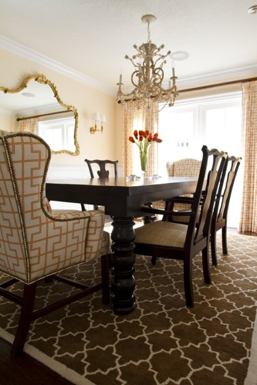 Fun Patterned Dining Rooms Great Example Of Adding Interest Without Much Color