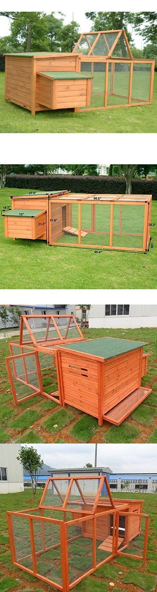 Backyard Poultry Supplies 177801: Chicken Coop Rabbit Hutch Cage Hen House Backyard Pen Poultry Outdoor Enclosure BUY IT NOW ONLY: $355.47