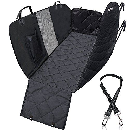 KQRNS Dog Seat Cover for Back Seat Pet Car Seat Cover Dog Hammock for Back Seat Cover for Pets with Mesh Window Side Flap for Cars Trucks and SUVs Padded Waterproof Nonslip Stain-proof Scratch-proof. For product info go to:  https://www.caraccessoriesonlinemarket.com/kqrns-dog-seat-cover-for-back-seat-pet-car-seat-cover-dog-hammock-for-back-seat-cover-for-pets-with-mesh-window-side-flap-for-cars-trucks-and-suvs-padded-waterproof-nonslip-stain-proof-scratch-proof/