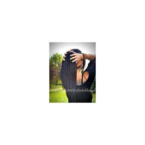 Fryzury  Czarne włosy: Fryzury Długie Alternatywne Dredy Czarne -... ❤ liked on Polyvore featuring dread